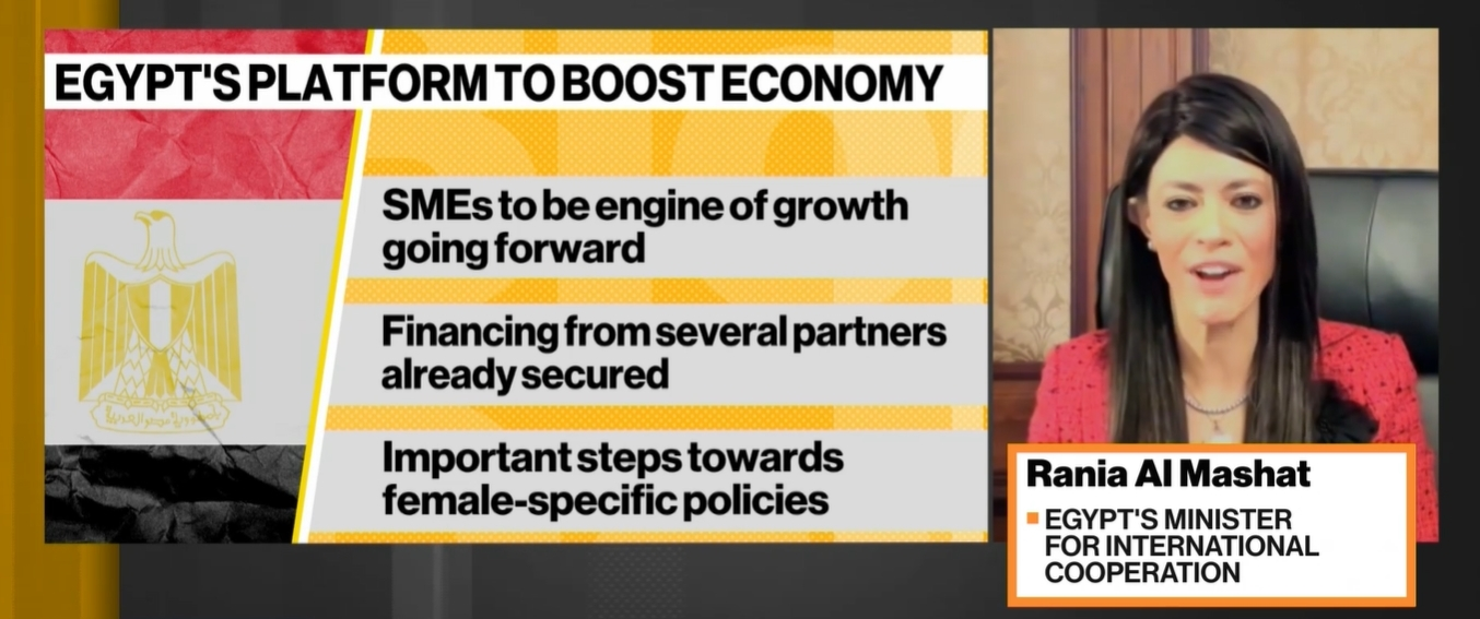 Courtesy Bloomberg TV and Ministry of International Cooperation