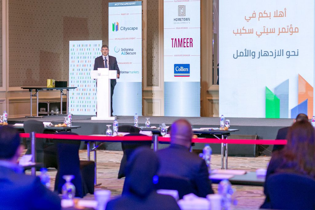 Antoine El Khoury, Managing Director of TAMEER during his speech at Cityscape