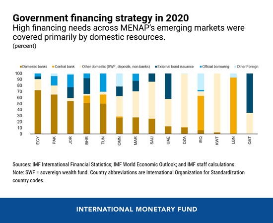 IMF 2021 MENAP govenment financing strategies